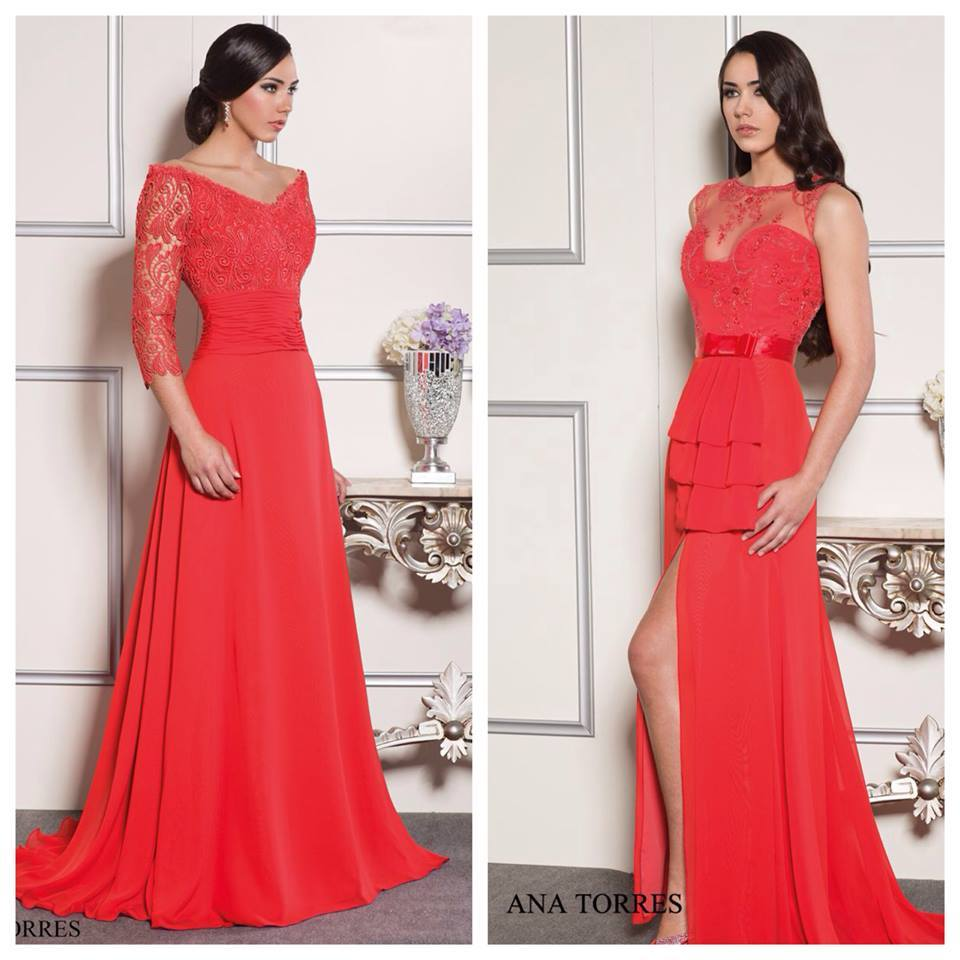 Vestidos de fiesta en color rojo - Elegante, exclusiva, brillante!